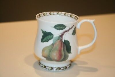 Queen's Fine Bone China (India) Hookers Fruit Mug Cup with Pears EUC