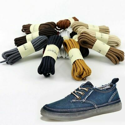 Unisex Fashion Shoelaces Cord Round Shoe Laces Woven Bootlace Trainers Strings