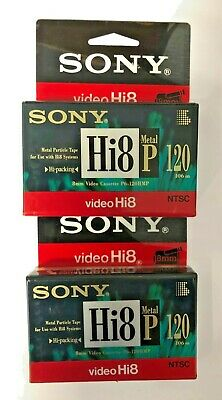 2 x SONY VideoHi8 P6-120HMP Cassette (Made in JAPAN)