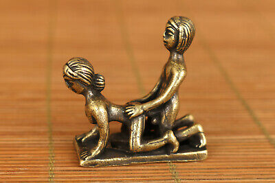 rare chinese old bronze hand carved art statue pendant netsuke collectable