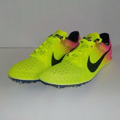Nike Zoom Victory Elite 2 Racing Track Spike 12 Volt Yellow Pink 835998 999