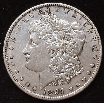 Beautiful Higher Grade, XF 1897-O Morgan Silver Dollar. Key In High Grades!