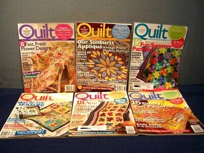 LOT of 6 QUILT MAGAZINES COMPLETE YEAR 2008 FEB. / MARCH - DEC. / JAN. 2009  VGC