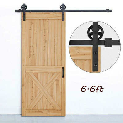 Sliding Barn Door Hardware Kit Suit for Bedroom Kitchen Wine Cellar, Warehouse