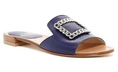 d24ed62c5eab1 New in Box -  325 Stuart Weitzman Jacqui Chain Slide Iris Sandals Size 10