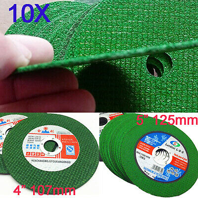 "10pcs 4""/5 Inch Thin Cutting Discs Wheel Angle Grinder Cut-Off Metal Steel tool"