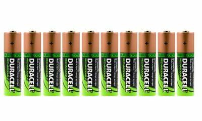 10 x Duracell AA HR06 2450mAh Capacity Duralock NiMH AA Rechargeable Batteries