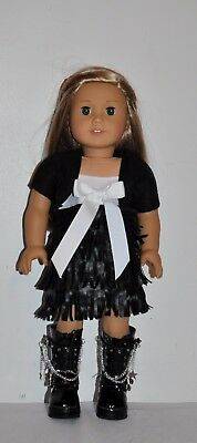 American Made Doll Clothes For 18 Inch Girl Dolls Dress  Lot-Black Fringe Dress