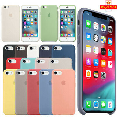 Genuine Silicone Case For Apple iPhone 6S 7 8 Plus XS Max XR Shockproof Cover UK