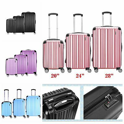 "28"" Large Super Lightweight ABS Hard Shell Travel Hold Check In Luggage Suitcase"