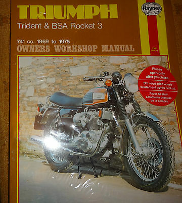 "Triumph  Trident &bsa Rocket 3 1969/75 ""haynes""  Workshop Manual"