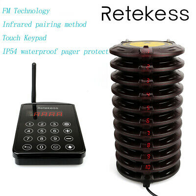 Retekess TD103 FM technology Wireless Paging Queuing System for Restaurant ABS