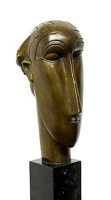 "Abstrakte Bronze - The ""Woman's Head"" (1912), sign. A. Modigliani"