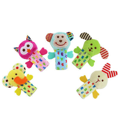 5pcs Baby Early Educational Creative Toy Animal Finger Puppet Cloth Doll Toy LS