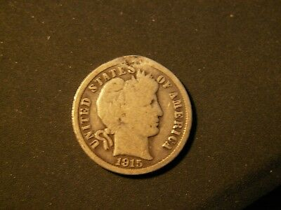 Nice 1915 Barber Dime, 104Yrs Old!!!   90% Silver!!!