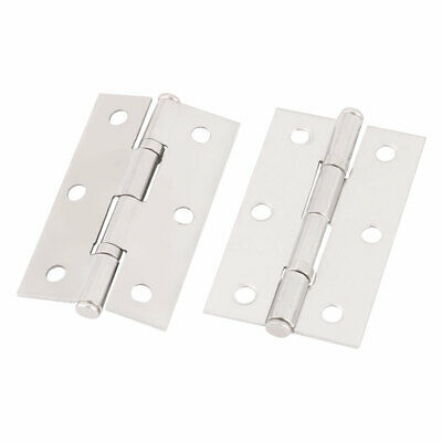 2 Pcs 304 Stainless Steel Door Hinges with 2.3 Inch Length for Closet Window