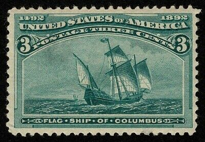 Scott#232 3c Columbian 1893 Mint LH OG Well Centered