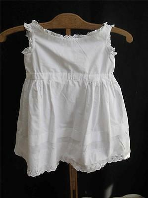 Babys Petticoat Antique Victorian Embroidered Cotton Lace Pintuck White c1890