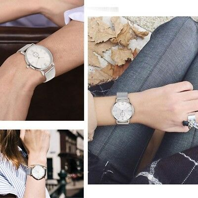 Women Men Luxury Stainless Steel Watches Crystal Analog Quartz Bracelet Watches