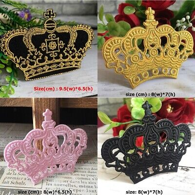 Princess Royal Crown Beautiful DIY Embroidered Sew Iron On Patch Applique