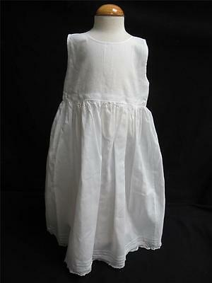 Victorian Babys Petticoat Antique Cotton Lace Pintuck Under Dress White c1890