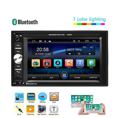 "Double 2Din Car Stereo Radio MP5 Player Bluetooth FM AUX USB 6.2"" Touch Screen"