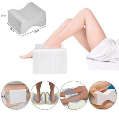 [Pro Contour Leg Pillow Memory Foam Bed Back Hips Knee Support Cover Orthopaedic