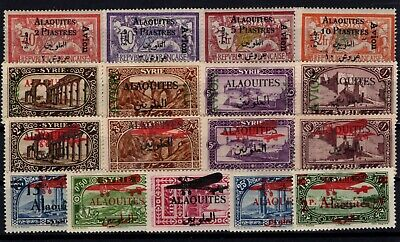 P108497/ Syria / Alaouites / Airmail Y&t # 1 / 17 Neufs * / Mh 180 €