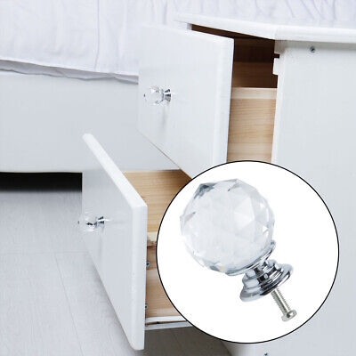 Crystal Knobs Pull Handle Cupboard Wardrobe Dresser Drawer Cabinet Decoration