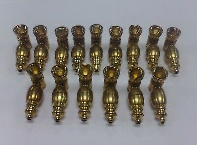 Brass Metal Tobacco Take Apart Segmented Hand Pipe Screens Included 2 1/3 Inches
