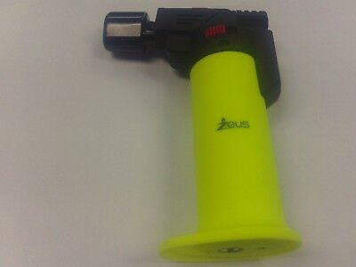 Zeus Torch Lighter Refillable Butane Cigarette Cigar Pipe Dual Flame -Yellow