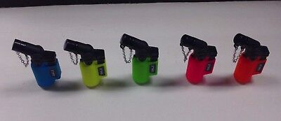 1 Eagle Angle Torch Lighter Jet Flame Butane Refillable Neon Limited Edition