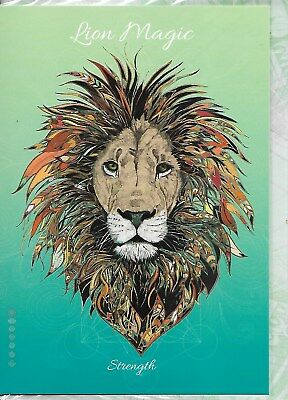 Lion Magic - Strength Greeting Card By Anne Stokes Blank Greeting Card