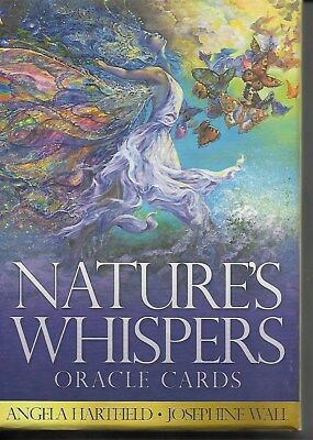 NEW NATURE'S WHISPERS ORACLE CARD DECK 50 CARDS & GUIDEBOOK BY Angela Hartfield