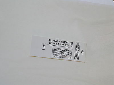 Bill Graham DAY ON THE GREEN Oakland CONCERT TICKET 1978 Grey