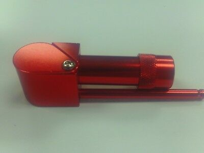 Aluminum Proto Pipe Type W/Built In Crusher Cylinder Chamber New Red Metal Lid