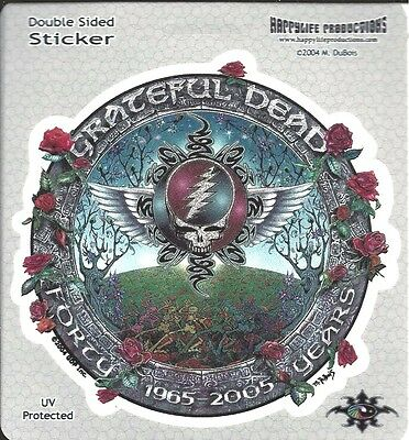 40 Years Grateful Dead Sticker Decal Bumpersticker Winged Steal Your Face