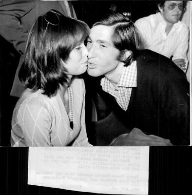 The tennis player Ilie Nastase together with Mrs. Dominique - Vintage photo