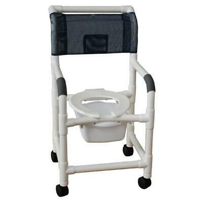 MJM International SQ. PAIL 10 quart square commode pail with slide on rails