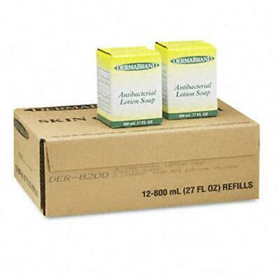 Dermabrand 8200CT Antibacterial Lotion Soap Unscented Liquid 800ml Box 12/carton