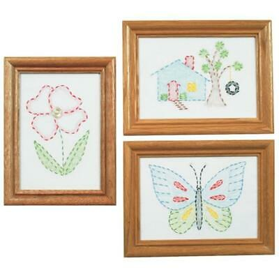 Jack Dempsey 488387 Stamped Embroidery Kit Beginner Samplers 6 in. x 8 in. 3-...