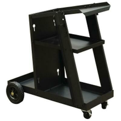 Mountain MTNELTWE-CAR 28 L x 13 W x 4.5  H Welding Cart with 2 Shelves for St...