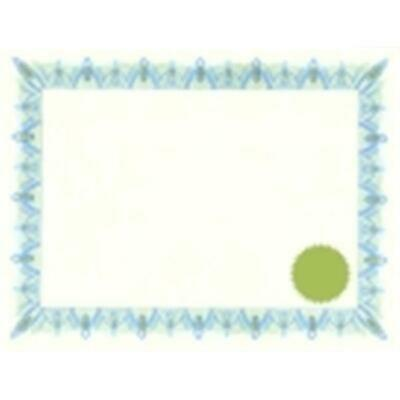 Geographics Acid-Free Printable Certificate With Seals - Classic Blue Pack 25
