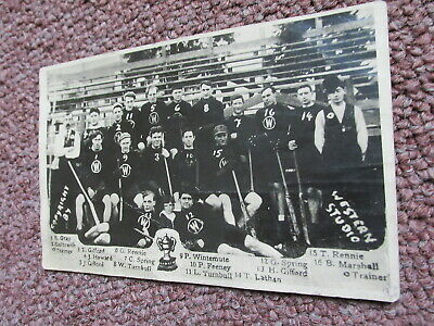ANTIQUE WESTERN STUDIO VANCOUVER CANADA LACROSSE REAL PHOTO POST CARD - Rare One