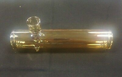 Tobacco Pipe 4'' Clear Yellow Color Glass Steam Roller Hand Pipe Smoking