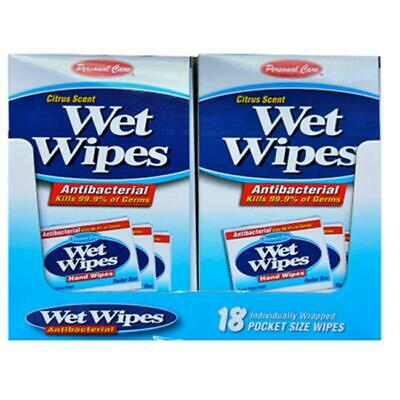 Personal Care 92131-3 Citrus Scent Wet Wipes - 18 Count Pack of 24