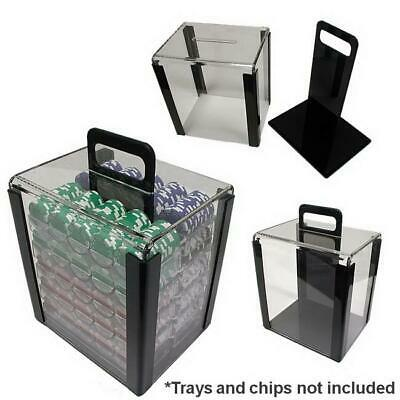 JP Commerce 1000-CARRIER 1000 Piece Acrylic Chip Carrier