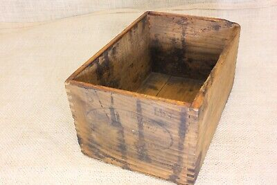 Old wood shipping box CHERRY WELDING COMPOUND blacksmith anvil vintage 1925