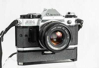Canon AE-1 Program 35mm SLR with Canon 50mm F1.8 Lens and more