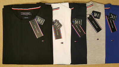 Tommy Hilfiger Mens Crew Neck Short Sleeve Regular Fit 100% Cotton Polo t Shirt